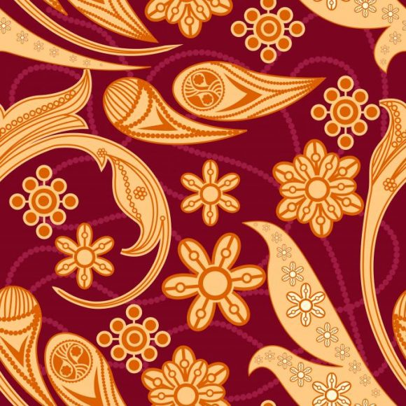 vector seamless pattern with floral 2015 08 428