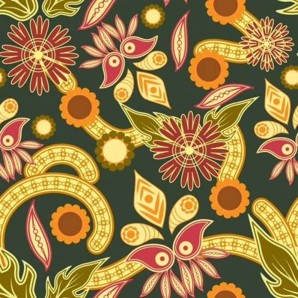 vector seamless pattern with floral 2015 08 429
