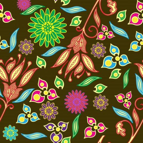 vector seamless pattern with floral 2015 08 430