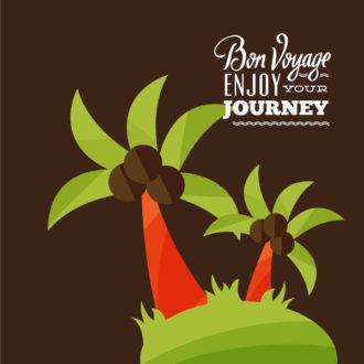 Summer vector illustration Vector Illustrations palm tree