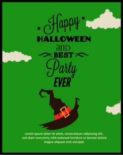 Halloween Vector illustration with hat Vector Illustrations vector