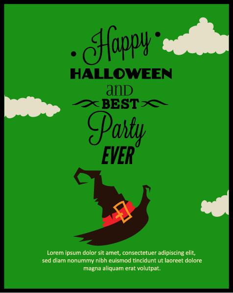 Halloween Vector illustration with hat Vector Illustrations vector