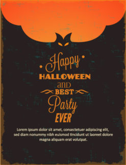 Halloween Vector illustration with bat Vector Illustrations vector