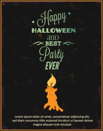 Halloween Vector illustration with candle Vector Illustrations vector