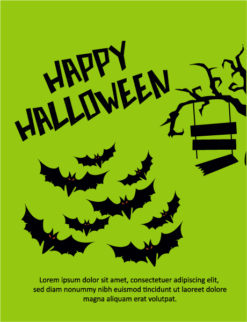 Halloween Vector illustration  with tree, bats Vector Illustrations tree