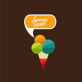 Summer vector illustration Vector Illustrations icecream
