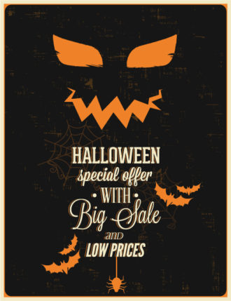 Halloween Vector illustration  with bat, Vector Illustrations vector