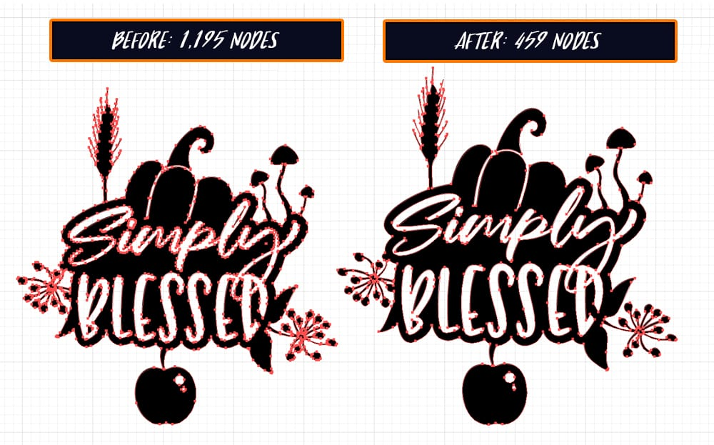 2157 Autumn Blessings 2 SVG Quote Before and After