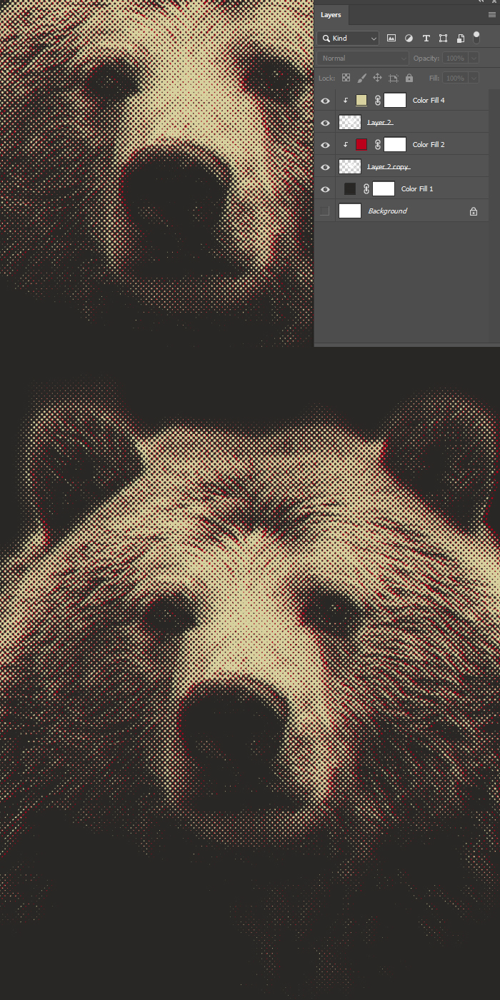 It's Insane What You Can Achieve With Only Two Colors in Photoshop! bear16