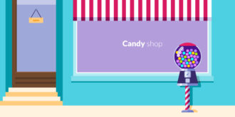 Candy Shop Vector Illustration Vector Illustrations vector