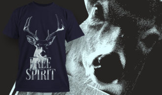 T-shirt design 1632 T-shirt Designs and Templates animal