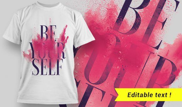 T-shirt design 1636 T-shirt Designs and Templates colorful