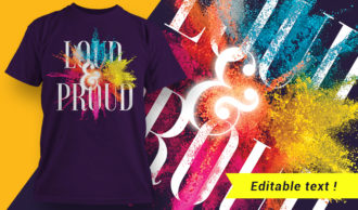 T-shirt design 1640 T-shirt Designs and Templates colorful