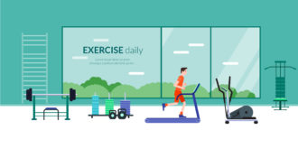 Exercise Daily Vector Illustration Flat Style Vector Illustrations vector