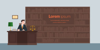 Law Office Vector Illustration Flat Style Vector Illustrations vector