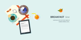 Breakfast Flat Style Vector Illustration Vector Illustrations vector