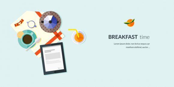 Breakfast Flat Style Vector Illustration micdejun 1