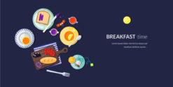 Breakfast Vector Illustration Flat Style Vector Illustrations vector