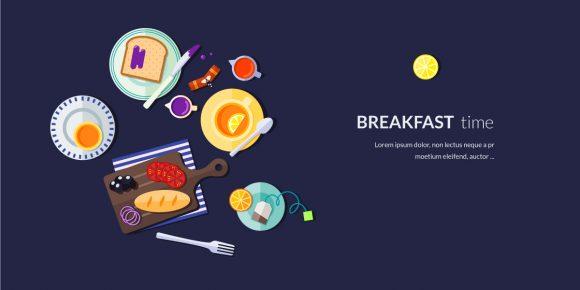 Breakfast Vector Illustration Flat Style micdejun 2