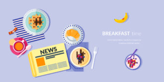 Breakfast Vector Illustration Flat Style Vector Illustrations vector