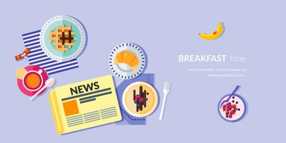 Breakfast Vector Illustration Flat Style micdejun 3
