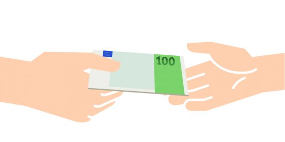 Money Transaction Vector Illustration money