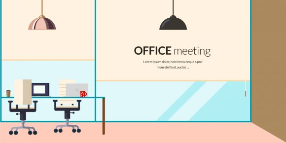 Office Meeting Vector Illustration Flat Style office meeting 1
