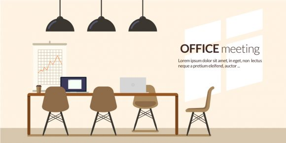 Office Meeting Vector Illustration Flat Style office meeting 3