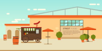 Street Food Vector Illustration Vector Illustrations vector