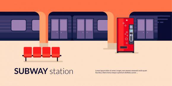 Subway Station Vector Illustration Vector Illustrations vector