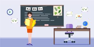 School Classroom Vector Illustration Vector Illustrations vector
