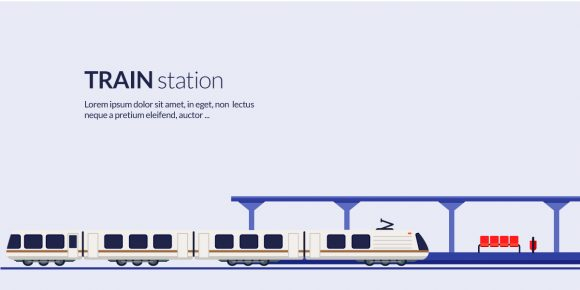 Train Station Vector Illustration Vector Illustrations vector