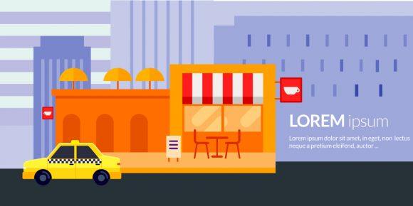 Coffee Shop Vector Illustration Vector Illustrations vector