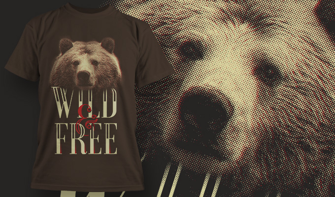 Free T-shirt design – Wild and Free Freebies animal