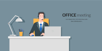 Helpdesk Officer Vector Illustration Vector Illustrations vector