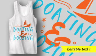 Boating and Boozing T-shirt Designs and Templates summer