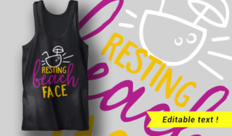Resting Beach Face T-shirt Designs and Templates summer
