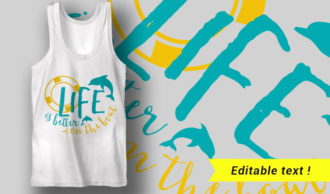 Life Is Better On The Boat T-shirt Designs and Templates summer