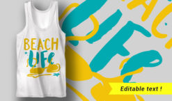 Beach Life T-shirt designs and templates summer