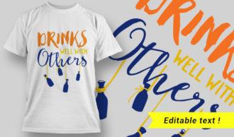 T-Shirt Design 22 – Shut Up Liver You're Fine T-shirt Designs and Templates vector