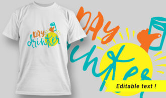 T-Shirt Design 8 – Day Drinker T-shirt Designs and Templates vector