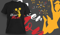 Cheer Mom T-shirt designs and templates vector