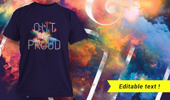T-shirt design 1653 T-shirt Designs and Templates colorful