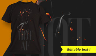 T-shirt design 1657 T-shirt Designs and Templates fire