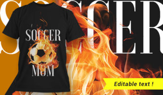 T-shirt design 1658 T-shirt Designs and Templates fire