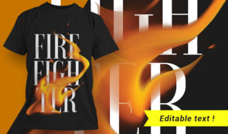 T-shirt design 1661 T-shirt Designs and Templates fire