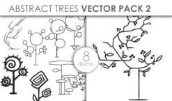 Vector Abstract Trees Pack 2for Vinyl Cutter Vector packs vector