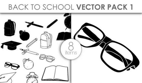 Vector Back To School Pack 1 Vector packs vector