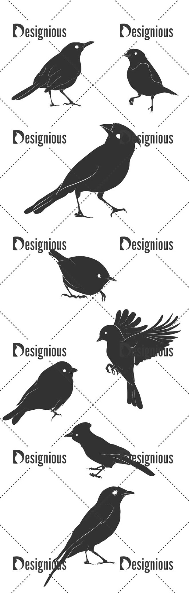 Vector Birds Pack 14for Vinyl Cutter designious vector birds pack 14 large preview