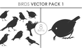 Vector Birds Pack 14for Vinyl Cutter Vector packs vector
